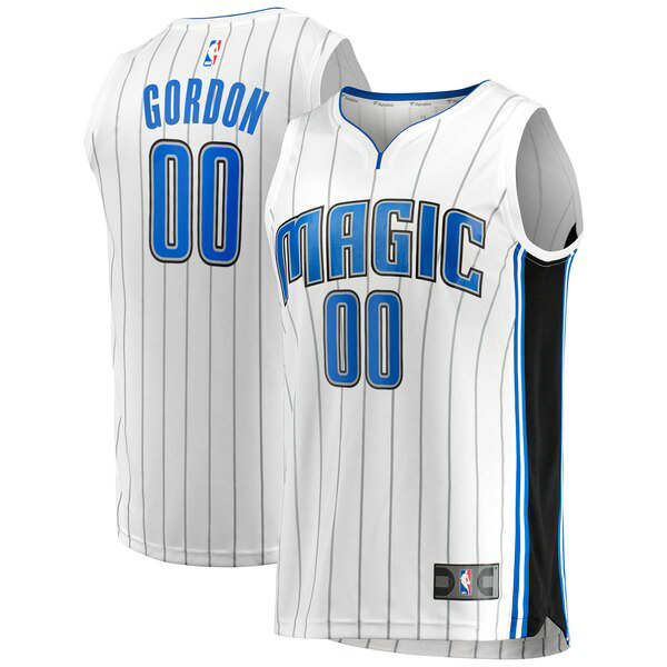 Maglia Aaron Gordon No 0 Orlando Magic Association Edition Uomo Bianco