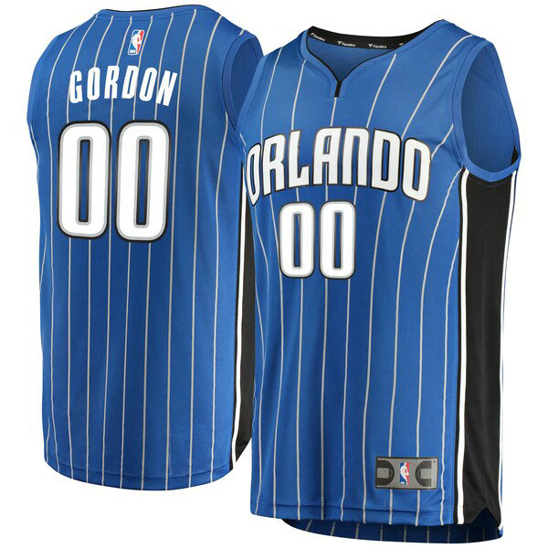 Maglia Aaron Gordon No 0 Orlando Magic Icon Edition Uomo Blu