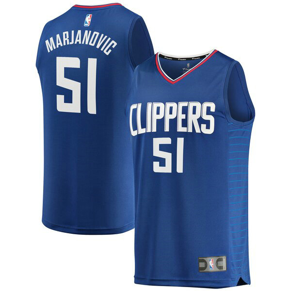 Maglia Boban Marjanovic No 51 Los Angeles Clippers Icon Edition Uomo Blu