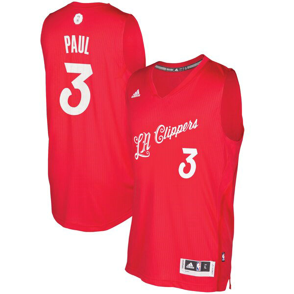Maglia Chris Paul No 3 Los Angeles Clippers 2016 adidas Uomo Rosso