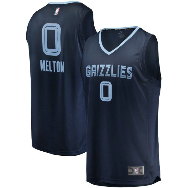 Maglia De'Anthony Melton No 0 Memphis Grizzlies Icon Edition Uomo Marina
