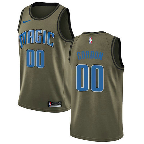 Maglia Aaron Gordon No 0 Orlando Magic 2018-2019 Uomo verde