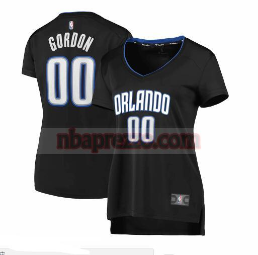 Maglia Aaron Gordon No 0 Orlando Magic 2019 icon edition Donna Nero