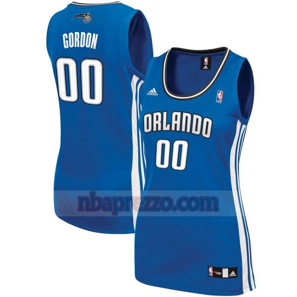 Maglia Aaron Gordon No 0 Orlando Magic Replica Donna Blu