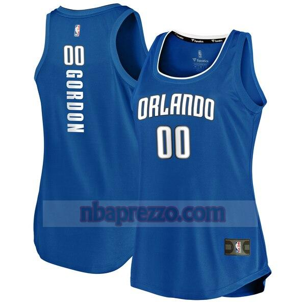 Maglia Aaron Gordon No 0 Orlando Magic icon edition Donna Blu