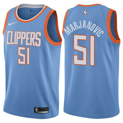 Maglia Boban Marjanovic No 51 Los Angeles Clippers nike Uomo Blu