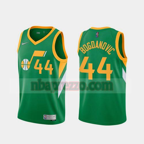 Maglia Bojan Bogdanovic No 44 Utah Jazz 2020-21 Earned Edition Uomo verde