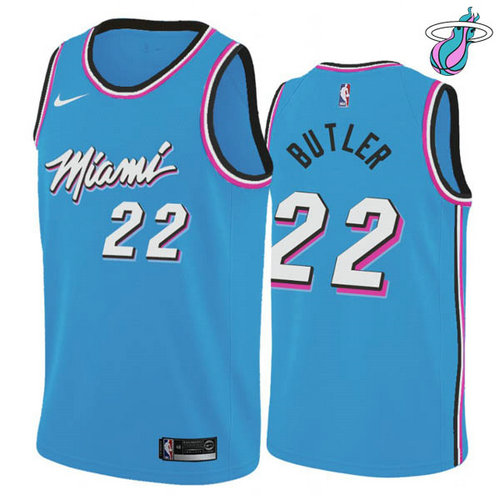 Maglia Jimmy Butler No 22 Miami Heat vice night Uomo Blu