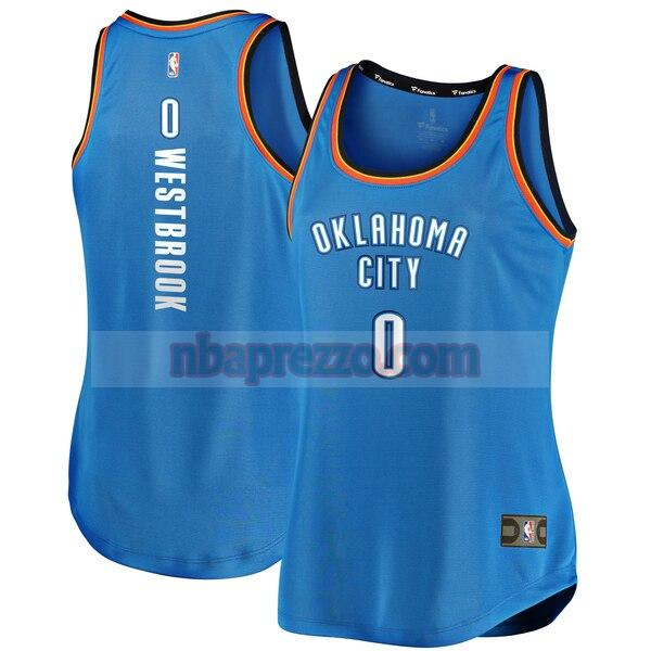 Maglia Russell Westbrook No 0 Oklahoma City Thunder icon edition Donna Blu