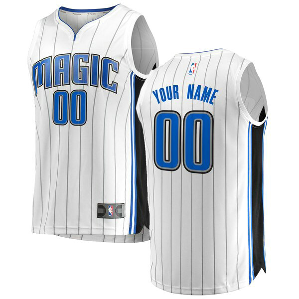 Maglia Custom No 0 Orlando Magic Association Edition Uomo Bianco