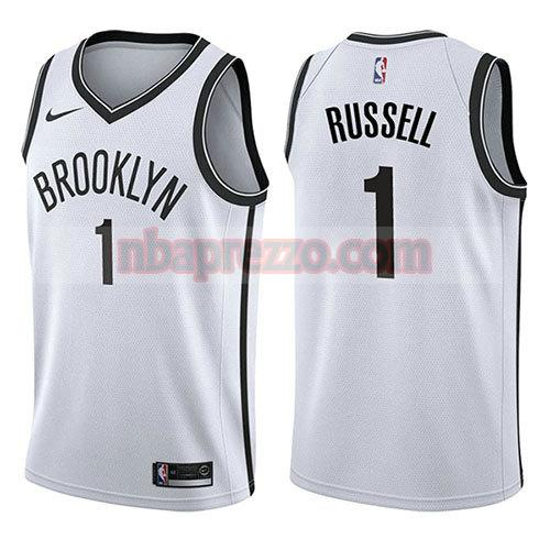 maglia D'angelo Russell brooklyn nets associazione 2017-18 uomo bianco