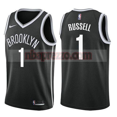 maglia D'angelo Russell brooklyn nets icona 2017-18 uomo nero
