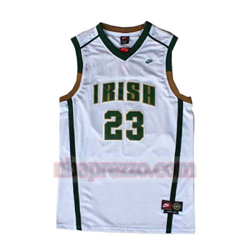 maglia LeBron James st. vincent-st. mary uomo bianco
