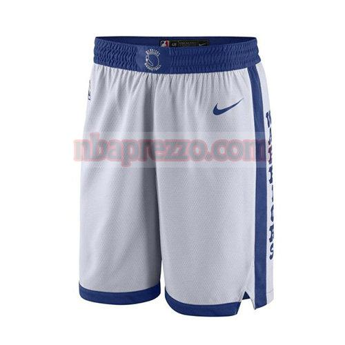 pantaloncini golden state warriors 2017-18 uomo bianco