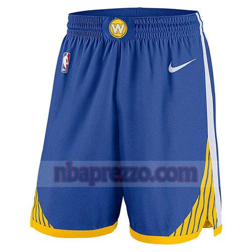 pantaloncini golden state warriors 2017-18 uomo blu
