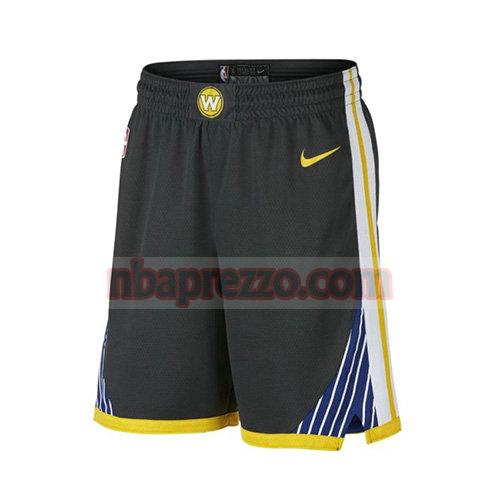 pantaloncini golden state warriors 2017-18 uomo nero