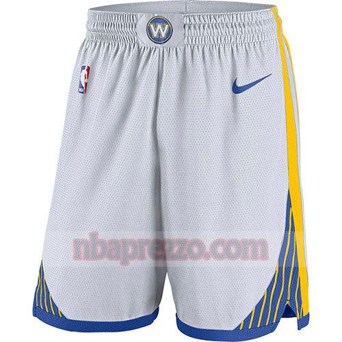 pantaloncini golden state warriors 2018-19 uomo bianco