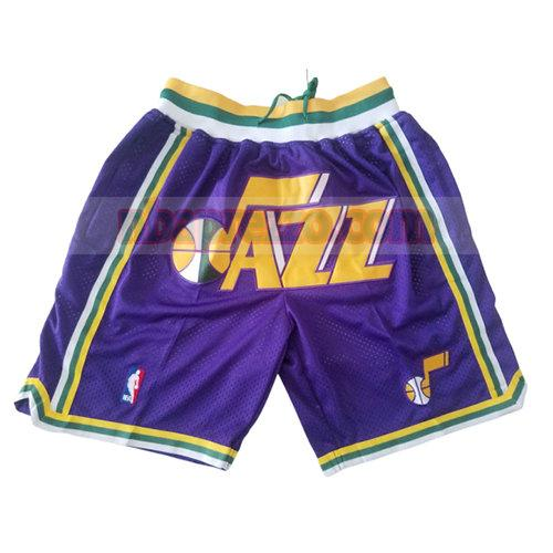 pantaloncini utah jazz just don uomo porpora